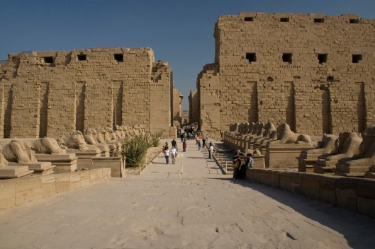 Eastern entrance to the Karnak temple complex.