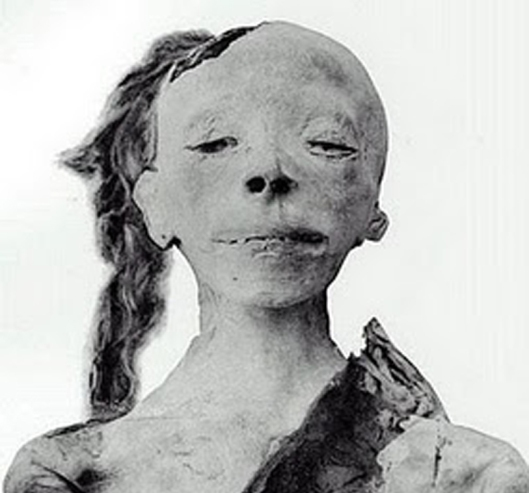 Prince Tuthmose? The mummy of a young boy probably from Dynasty 18.