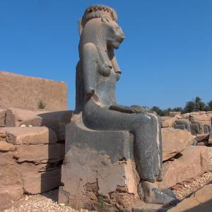 Sekhmet, goddess of war and disease.