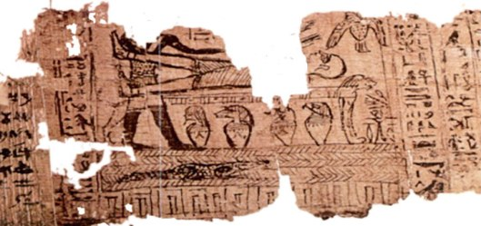 The actual fragmented vignette in the Book of Breathing of Hor.